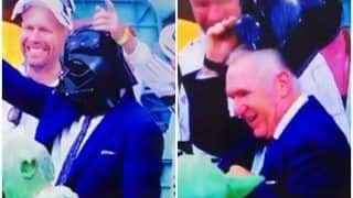 Ind vs Aus 4th Test: Allan Border as Star Wars Character Darth Vader Steals The Show at Gabba, Brisbane | WATCH VIDEO