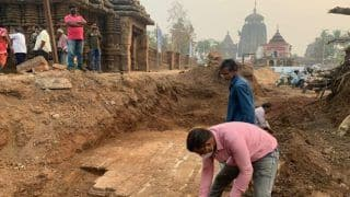 10th Century Temple Unearthed During Excavation Near Shree Lingaraj Temple in Odisha's Bhubaneswar