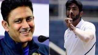India vs england jasprit bumrah bowled in anil kumble style in nets jambo hails jassi 4370553
