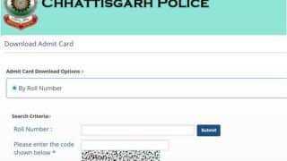 CG Police Constable Admit Card 2018 Released for DEF PET exam At cgpolice.cgstate.gov.in, Check Details Here