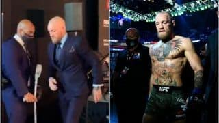Conor McGregor Leg Injury: Former Lightweight Champion Walks on Crutches After Loss Against Dustin Poirier at UFC 257, Says Leg is 'Completely Dead'   WATCH VIDEO