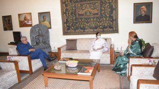 Courtesy Visit: West Chief Minister Mamata Banerjee Meets Governor Jagdeep Dhankhar