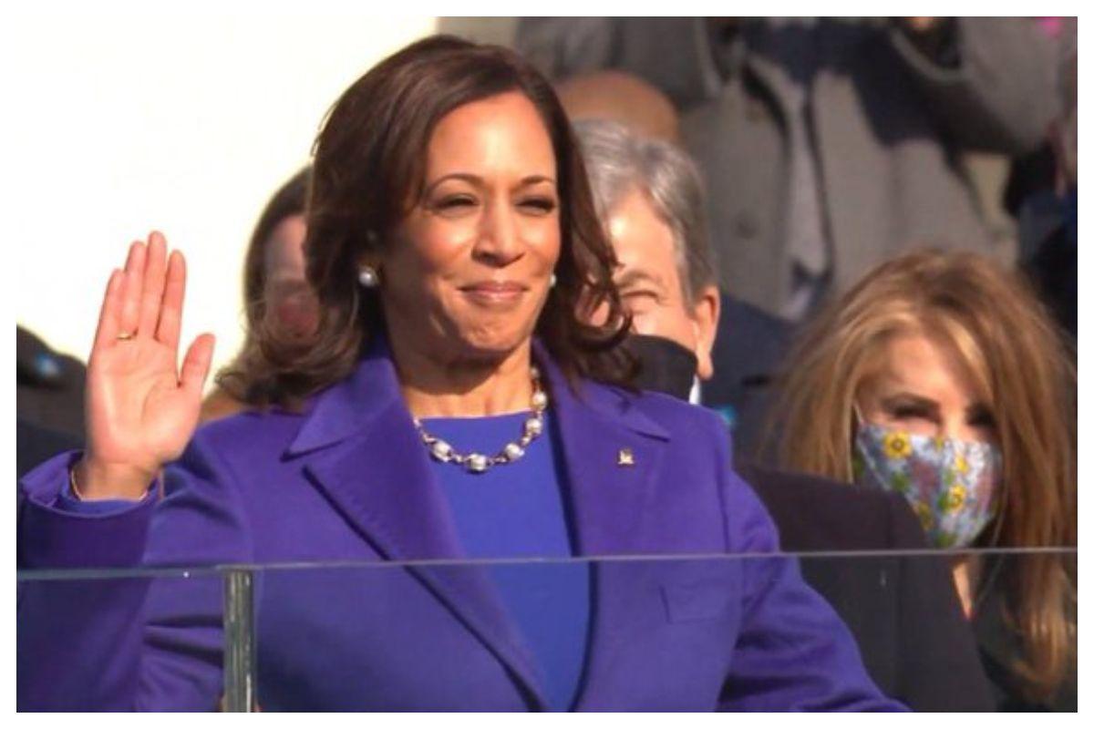 अमेरिका कमला हैरिस उप राष्ट्रपति शपथ समारोह