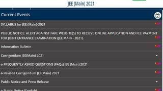 JEE Main 2021: NTA releases syllabus for Engineering Entrance exam at jeemain.nta.nic.in, Download JEE Main Syllabus Now