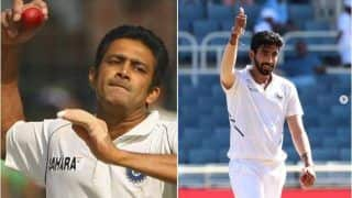Jasprit Bumrah Imitates Anil Kumble's Bowling Action Ahead of India vs England 1st Test in Chennai, BCCI Shares Video | WATCH