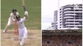 Mayank Agarwal Hits Nathan Lyon For a 102-Metre Long Six at Gabba, Brisbane During Day 3 | WATCH VIDEO
