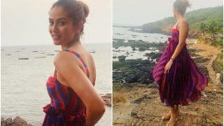 Mira Rajput Flaunts Her Rs 20K Abstract Print Co-ord in Goa And Husband Shahid Kapoor Goes Flirty Over The Look