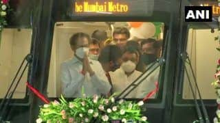 Maharashtra CM Unveils First Indigenous Metro Rake at Mumbai's Charkop Depot