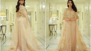 Nora Fatehi is a Queen of Elegance and Grace in a Blush Pink Kaftan- See VIRAL Pics