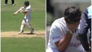 WATCH | Pant Cops Nasty Blow on Right Elbow Off Cummins