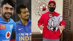 रिषभ पंत की 'Tom & Jerry' सीरीज की टी-शर्ट पर राशिद खान-युजवेंद्र चहल ने जमकर की मस्ती, किया Troll