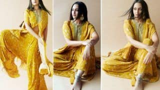 Sonakshi Sinha Paints The Town Yellow in an Embroidered Cape Set from the Shelves of Arpita Mehta Worth Rs 39K