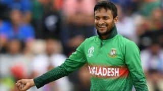 Ban vs wi 1st odi shakib al hasan take four wicket haul in his first match after return from icc ban 4344921
