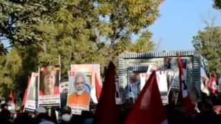 Protesters Raise Placards of PM Modi, Other World Leaders at Pro-freedom Rally in Pakistan's Sindh