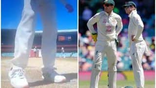 Steve Smith Lands in New Controversy, Caught Scuffing Rishabh Pant's Batting Mark to Damage Pitch During 3rd Test at SCG | WATCH VIDEO