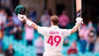 Indvsaus 3rd test steve smith becomes 1st player to hit 10 century and half century in 1 test leave past ricky ponting sachin tendulkar virat kohli alaster cook 4320938