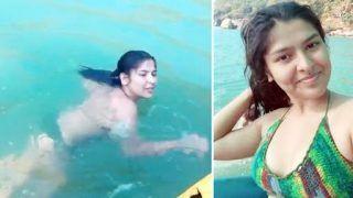 Taarak Mehta Ka Ooltah Chashmah Actor Nidhi Bhanushali Jumps Into Sea in Stunning Bikini Look | WATCH