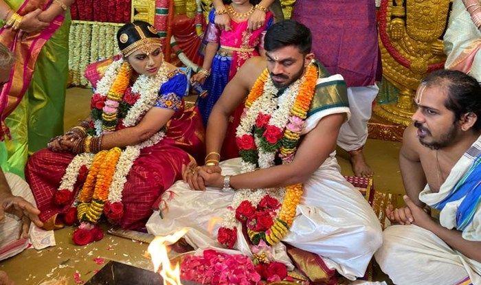 Vijay Shankar Marries Vaishali Visweswaran, SRH Wish India All-Rounder