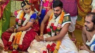 Vijay Shankar Got Married: विवाह बंधन में बंधे ऑलराउंडर विजय शंकर, मंगेतर वैशाली विश्वेश्वर से की शादी