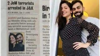 Virat Kohli-Anushka Sharma's Picture Appears in Newspaper Piece About JeM Terrorists; Alleged Goof-up Goes Viral