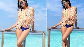Ananya Panday Sets The Temperature Soaring in a Fringe-Bikini Designed by Aunt Seema Khan