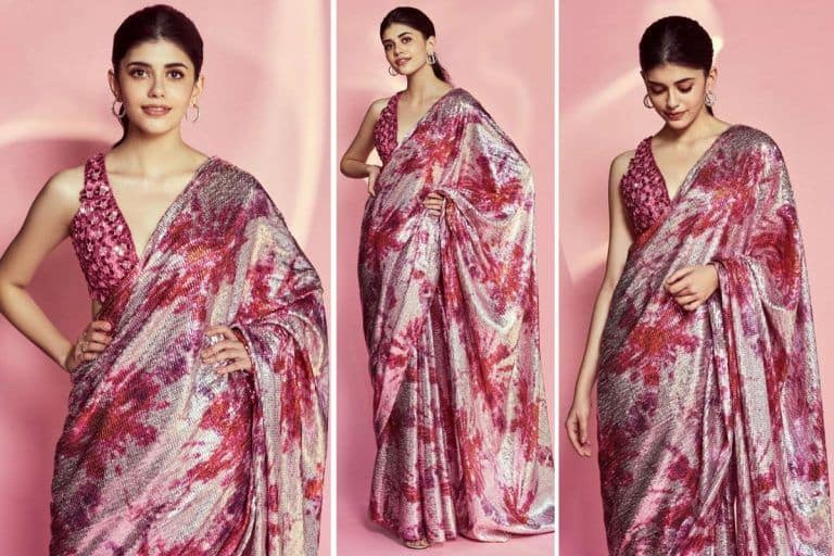 Dil Bechara Actor Sanjana Sanghi in Rs 88,600 Saree Shows How to Wear Bling the Right Way