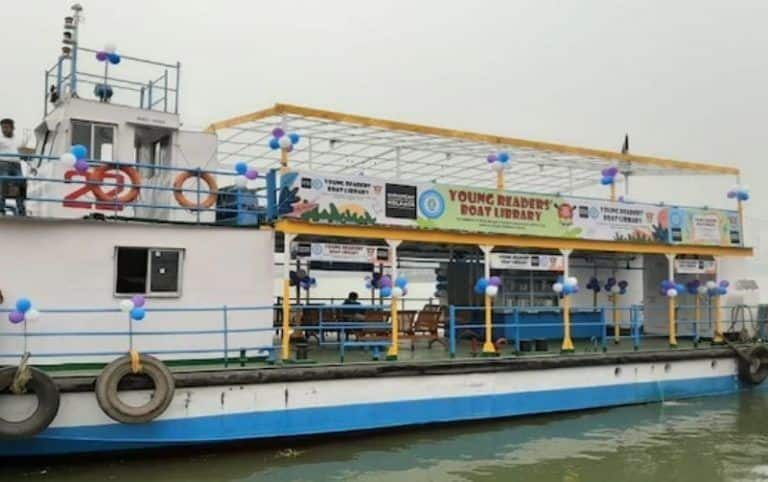 Kolkata Launches its First Boat Library for Children with Over 500 Books