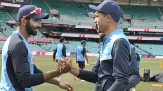 IND vs AUS 3rd Test, Day 1 WATCH: Navdeep Saini Gets His Test Cap From Jasprit Bumrah