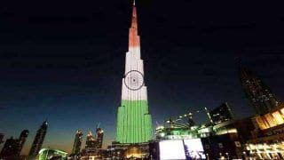 Burj Khalifa Lights up With Tricolour to Celebrate India's 72nd Republic Day
