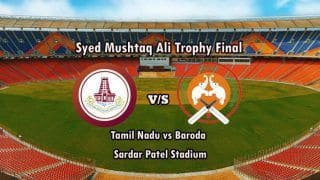 Highlights Syed Mushtaq Ali Trophy 2021 Final: Tamil Nadu Beat Baroda by Seven Wickets to Become Champions