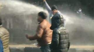 Farm Laws Stir: Police Stop Congress Workers With Water Cannon in Punjab; Hooda, Other Leaders Detained in Haryana