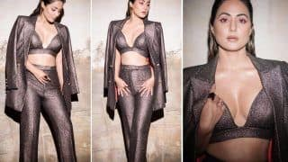 Hina Khan Steals the Show in Black Metallic Pantsuit, Shows How to Do Power Dressing Right