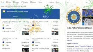 Google Search Celebrates Indian Cricket Team's 2-1 Series Win Over Australia With Virtual Fireworks