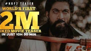 KGF Chapter 2 Teaser Sets New Record, Yash Starrer Becomes Fastest Indian Teaser to Cross 2 Million Likes on YouTube