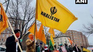 US: खलिस्तान समर्थकों ने कृषि कानूनों के खिलाफ वॉशिंगटन में भारतीय दूतावास के बाहर किया प्रदर्शन
