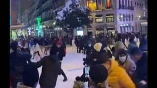 Watch: Mass Snowball Fight Breaks Out in Madrid As Youth Make Most of Blizzard