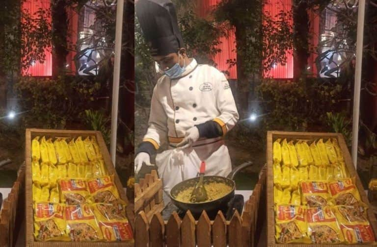 Your Favourite Maggi Makes Official Debut in Wedding Food Menu; Picture of Maggi Counter from Wedding Hall Goes Viral