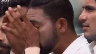 India vs Australia, 3rd Test: Mohammed Siraj Wipes Tears During National Anthem in Sydney | Watch Video