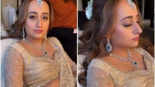 Natasha Dalal's Bridal Look Video: Stuns in Ivory Lehenga, White Chooda, And Lot of Grace