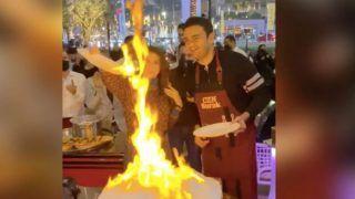 दुबई के एक रेस्ट्रॉन्ट में शेफ बनी नोरा फतेही, आग के सामने किए खतरनाक स्टंट्स...देखें Viral Video