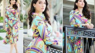 Nora Fatehi Looks Like a Million Bucks in Multi-Coloured Co-Ord Set, See VIRAL Photos