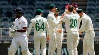 SA vs SL 2nd Test Report: Anrich Nortje, Dean Elgar Put South Africa in Driver's Seat vs Sri Lanka on Day 1