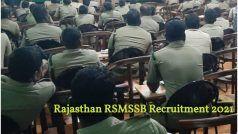 Rajasthan RSMSSB Recruitment 2021: राजस्थान कर्मचारी चयन बोर्ड में फॉरेस्ट गार्ड, फॉरेस्टर के पदों पर आवेदन करने के बचे हैं चंद दिन, 10वीं, 12वीं पास करें अप्लाई