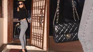 Tara Sutaria Flaunts Rs 4.7 Lakh Bag, Looks Stylish in a Black Crop Top And Denims, See Her Classy Pics HERE