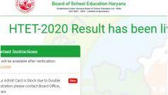 HTET Result 2020 Declared: हरियाणा TET 2020 का रिजल्ट हुआ जारी, ये है चेक करने का Direct Link