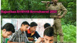Rajasthan RSMSSB Recruitment 2021: फॉरेस्टर, फॉरेस्ट गार्ड के पदों पर आवेदन करने के लिए बचे हैं कुछ दिन, 10वीं, 12वीं पास कर सकते हैं अप्लाई