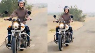 सड़क पर कुछ इस अंदाज़ मेंबुलेट दौड़ाती दिखीं कृति सैनन, कहा- मैं हमेशा से..., देखें Viral Video