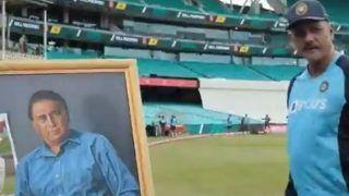 Ravi Shastri Unveils Sunil Gavaskar's Portrait at SCG; Calls Him Master Technician at Work