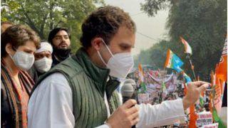 कृषि कानूनों के खिलाफ कांग्रेस का प्रदर्शन, राहुल-प्रियंका भी हुए शामिल, कहा- पूंजीपतियों को फायदा पहुंचा रही बीजेपी