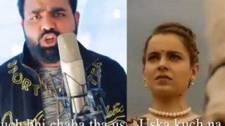 Kangana Ranaut is Overwhelmed With Love as Fan Shares Rap Video Titled 'Sherni Kangana' - Watch